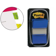 BANDAS POST-IT INDEX 3M, 25,4X43,1 MM, AZUL -DISPENSADOR DE 50