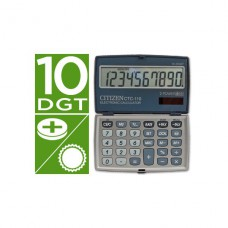 CALCULADORA CITIZEN DE BOLSO CTC-110 10 DIGITOS PRATA