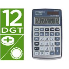 CALCULADORA CITIZEN DE BOLSO CPC-112 12 DIGITOS  CINZA
