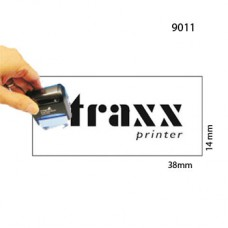Carimbo 14x38mm Autotintavel Traxx Mod 9011 Corpo Preto