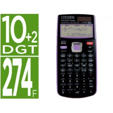CALCULADORA CITIZEN CIENTIFICA SR-270XPU VIOLETA 251 FUNCOES 10+2 DIGITOS