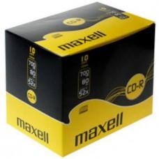 MAXELL - CD-R 80 52X 700MB P.10 SLIM-624003.40.CN